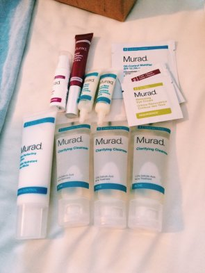 Variety of Murad Skin Products